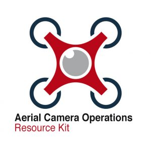 Abstract drone quadrocopter, vector icon
